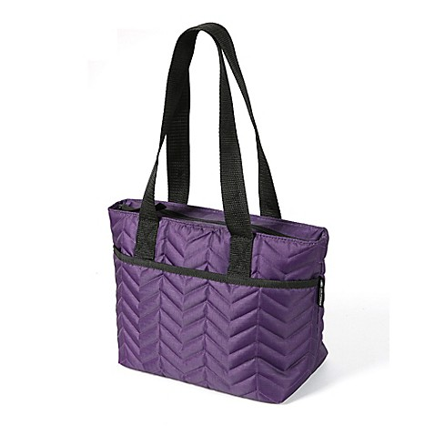 California Innovations Quilted East West Tote In Purple