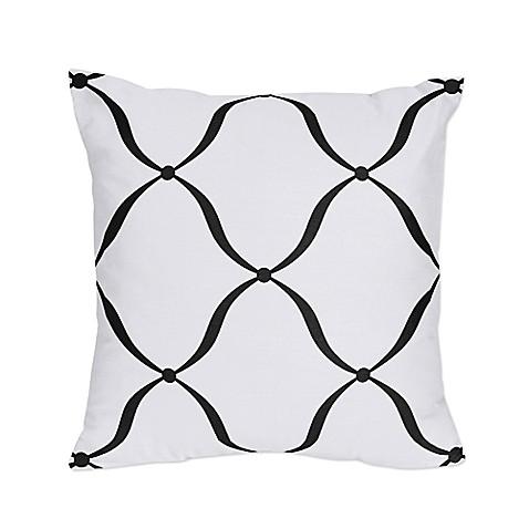 Crib Bedding Sets > Sweet Jojo Designs Princess Square Throw Pillows in Black/White/Purple (Set ...