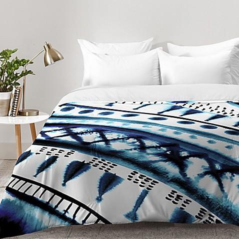 Deny Designs Amy Sia Indigo Stripe Comforter In Blue Bed