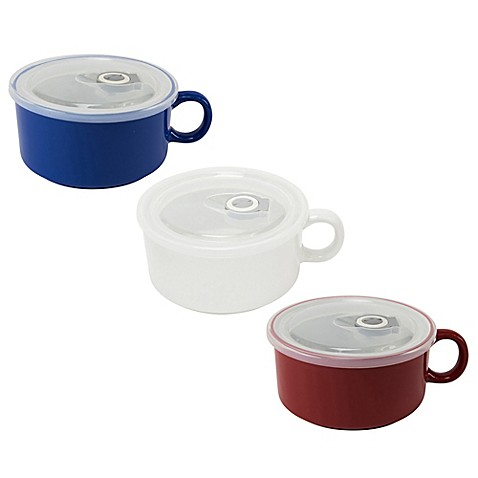 Boston Warehouse Soup Mug with Vented Lid at Bed Bath & Beyond in Cypress, TX | Tuggl