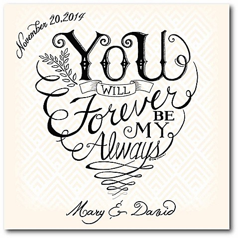 """Courtside Market """"You and Me Forever"""" Canvas Wall Art at Bed Bath & Beyond in Cypress, TX 