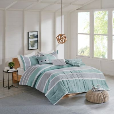Isla Flannel Reversible Comforter Set by Bed Bath And Beyond