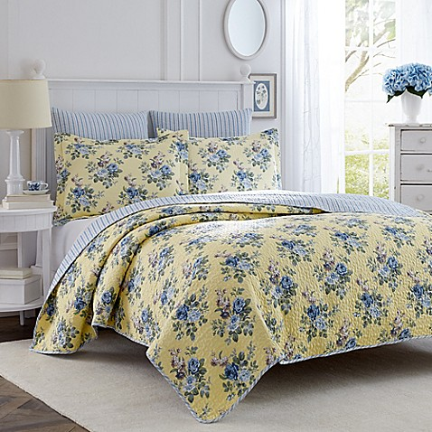 laura ashley linley twin quilt set bed bath beyond. Black Bedroom Furniture Sets. Home Design Ideas