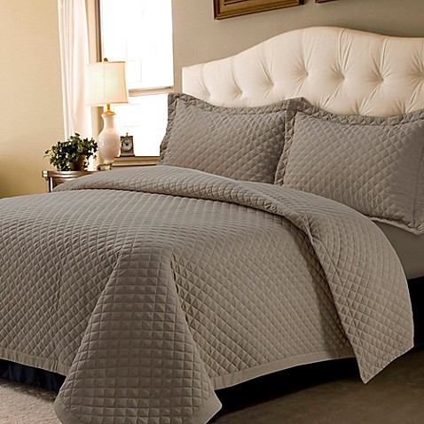 Tribeca Living Oversized Brisbane Solid Quilt Set at Bed Bath & Beyond in Cypress, TX | Tuggl