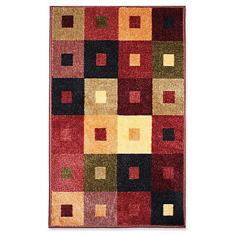 J Amp M Home Fashions Squares Woven Rug Bed Bath Amp Beyond