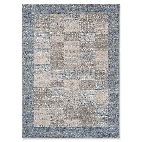 Surya rita rug in bright blue bed bath beyond for Bright blue area rug