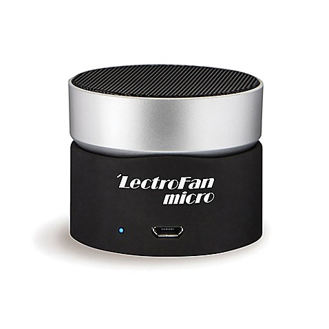 Lectrofan micro wireless sound machine in black silver for Bathroom noise maker