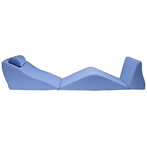 Contour® BackMax Standard Body Pillow Wedge Cushion Set in Blue at Bed Bath & Beyond in Cypress, TX | Tuggl