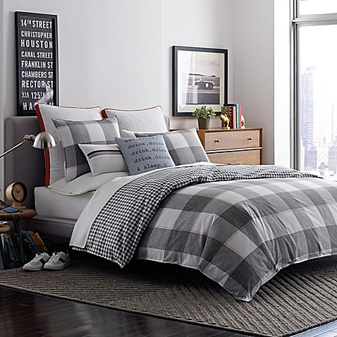Original Penguin Twin/Twin Xl Flynn Comforter Set In Grey by Bed Bath And Beyond