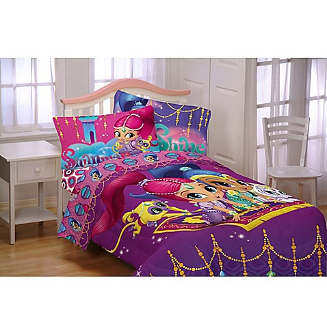 Shimmer Amp Shine Magical Wonders Comforter Set In Purple