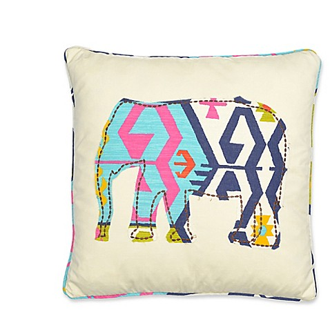 Elephant Throw Pillow Bed Bath And Beyond : Levtex Home Moesha Elephant Square Throw Pillow in Taupe - Bed Bath & Beyond