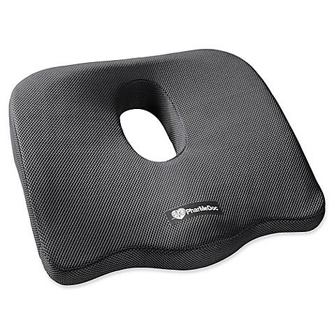 PharMeDoc® Orthopedic Coccyx Seat Cushion in Black at Bed Bath & Beyond in Cypress, TX | Tuggl
