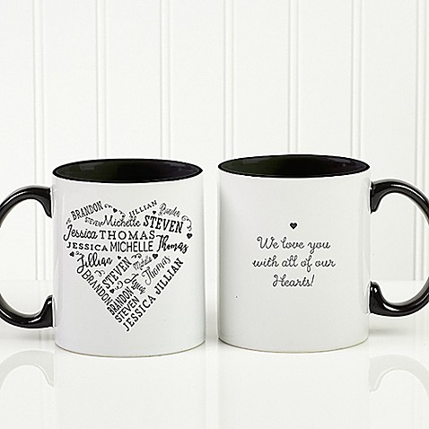 Close to Her Heart 11 oz. Coffee Mug in Black at Bed Bath & Beyond in Cypress, TX | Tuggl