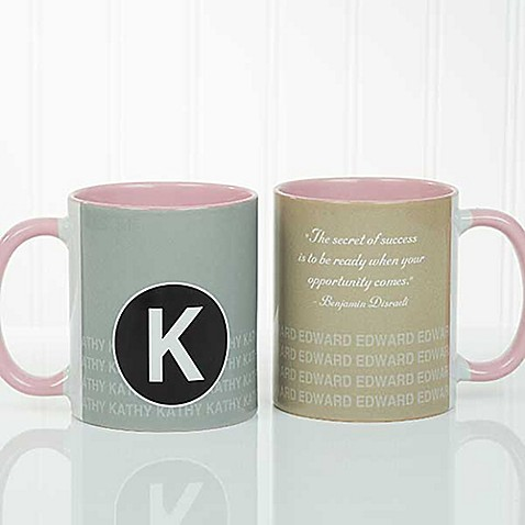 Sophisticated Quotes 11 oz. Coffee Mug in Pink at Bed Bath & Beyond in Cypress, TX | Tuggl