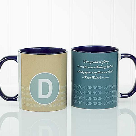 Sophisticated Quotes 11 oz. Coffee Mug in Blue at Bed Bath & Beyond in Cypress, TX | Tuggl