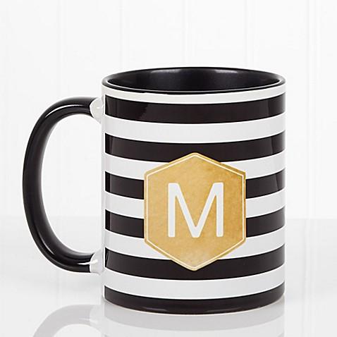 Modern Stripe 11 oz. Coffee Mug in Black at Bed Bath & Beyond in Cypress, TX | Tuggl