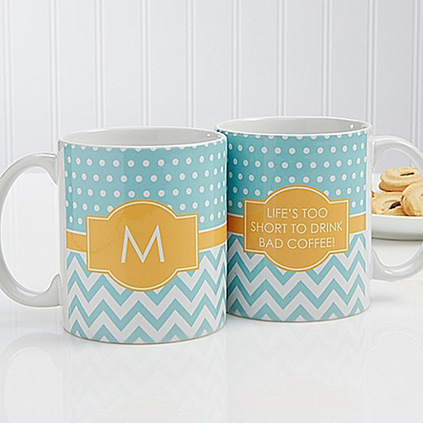 Preppy Chic 11 oz. Coffee Mug in White at Bed Bath & Beyond in Cypress, TX | Tuggl