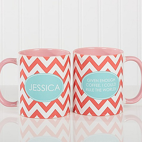Preppy Chic 11 oz. Coffee Mug in Pink at Bed Bath & Beyond in Cypress, TX | Tuggl