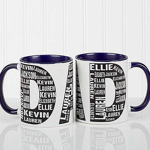 Repeating Name for Him 11 oz. Coffee Mug in Blue at Bed Bath & Beyond in Cypress, TX | Tuggl