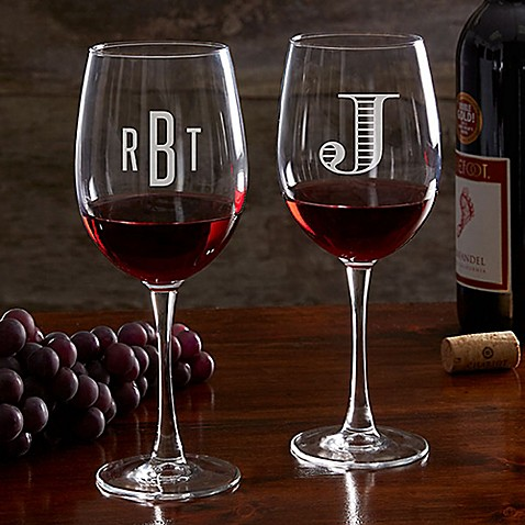 Classic Celebrations 19.25 oz. Red Wine Glass with Monogram at Bed Bath & Beyond in Cypress, TX | Tuggl