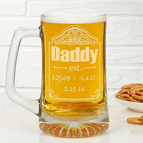 Date Established 25 oz. Deep Etch Beer Mug at Bed Bath & Beyond in Cypress, TX   Tuggl