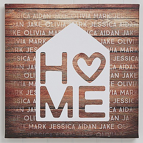 Home is Love Canvas Print at Bed Bath & Beyond in Cypress, TX | Tuggl