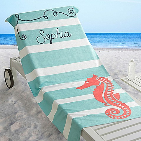 Nautical Beach Towel Buybuy Baby
