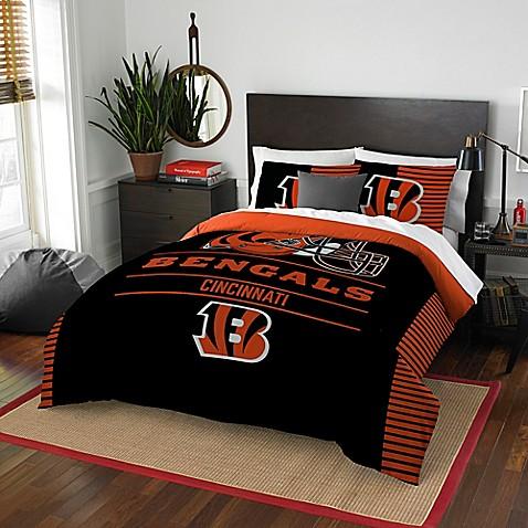 Nfl cincinnati bengals draft full queen comforter set for Bengals bedroom ideas