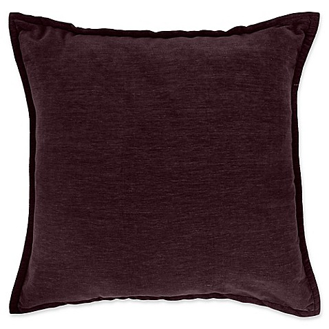 Buy Make-Your-Own-Pillow Sola Chenille Square Throw Pillow Cover in Purple from Bed Bath & Beyond