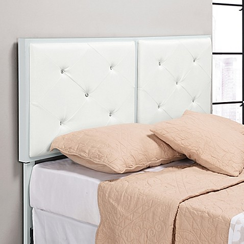 K Amp B Furniture B8039 Crystal Tufted Upholstered Headboard