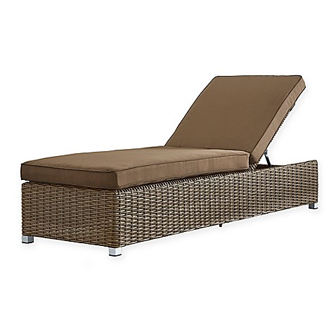 Verona home brescia all weather wicker adjustable chaise for All weather chaise