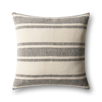 Black And Ivory Throw Pillows : Magnolia Home by Joanna Gaines Carter Square Throw Pillow in Black/Ivory - Bed Bath & Beyond