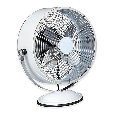 Buy Deco Breeze 174 Retro Swivel 2 Speed Table Fan In White From Bed Bath