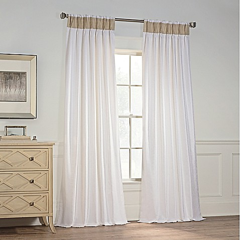 Milena Pinch Pleat Window Curtain Panel Bed Bath Beyond