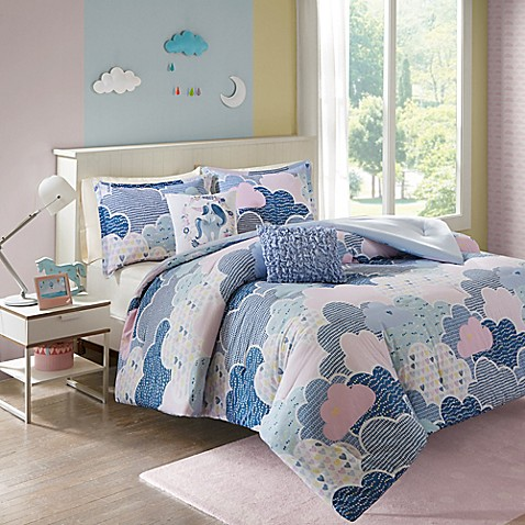 Urban habitat kids cloud comforter set bed bath beyond - Blue beds for girls ...