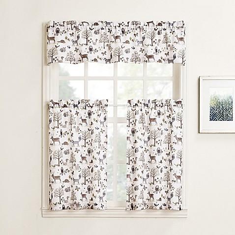 No 918 Forest Friends Rod Pocket Kitchen Window Curtain