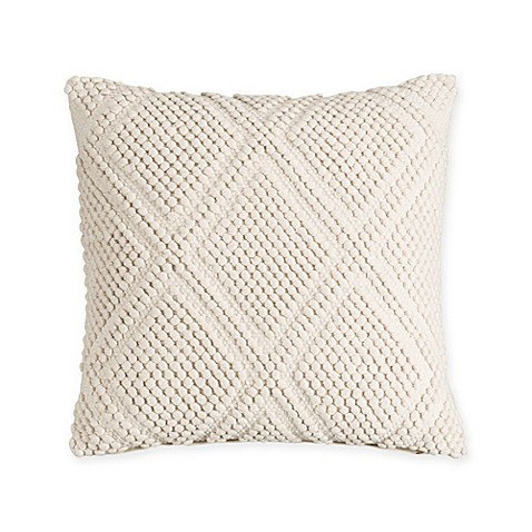 Bridge Street Sonnet 18-Inch Square Throw Pillow in Beige at Bed Bath & Beyond in Cypress, TX | Tuggl