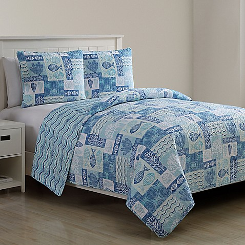 Vcny Home Patchwork Sea Life Quilt Set Bed Bath Amp Beyond
