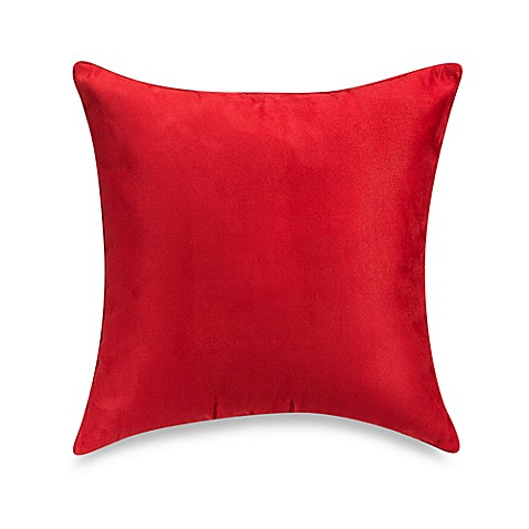 20 Inch Square Decorative Pillows : Buy Suede 20-Inch Square Throw Pillow in Red from Bed Bath & Beyond