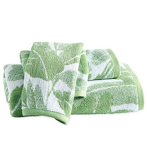 Destinations Miami Leaf Bath Towel In Green Bed Bath