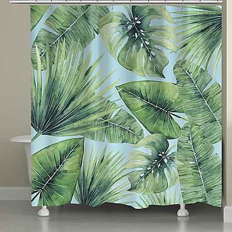 Buy Laural Home Tropical Palm Tree Leaves Shower Curtain