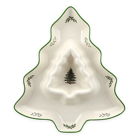 Buy Spode Christmas Tree Tree Shaped Chip And Dip From Bed Bath Beyond