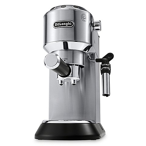buy de 39 longhi dedica deluxe espresso machine in stainless. Black Bedroom Furniture Sets. Home Design Ideas