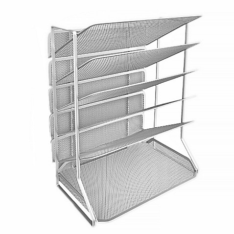 Seville Classics 6 Tier Mesh Letter Tray Desk Wall