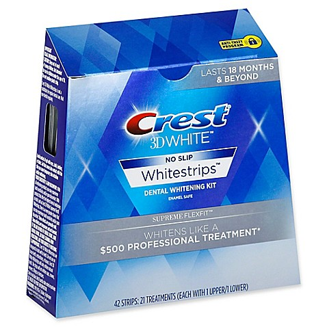 Crest 174 3d White No Slip Whitestrips Supreme Flexfit
