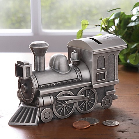 Engraved Pewter Choo Choo Train Bank Buybuy Baby