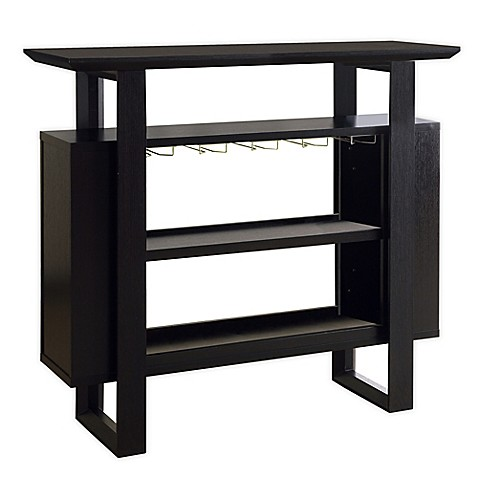 Buy Monarch Specialties Home Bar With Bottle Glass Storage In Cappuccino From Bed Bath Beyond