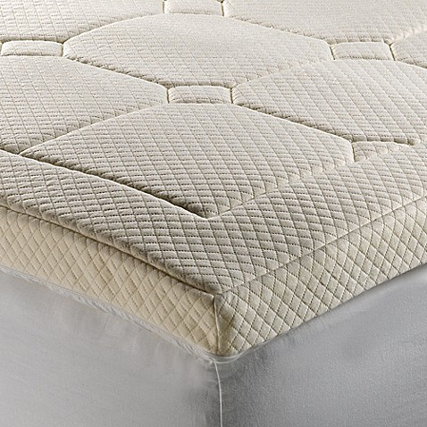 therapedic luxury quilted deluxe 3 inch memory foam bed topper bed bath beyond. Black Bedroom Furniture Sets. Home Design Ideas
