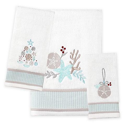 Saturday Knight Coastal Christmas Bath Towel Collection