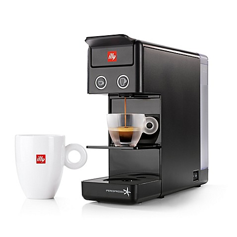 illy y3 2 espresso coffee machine bed bath beyond. Black Bedroom Furniture Sets. Home Design Ideas